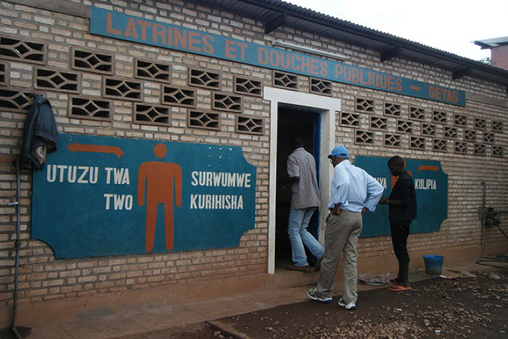 New public toilet at the bus station in gitega